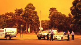 Police stand tall in Northcliffe flames