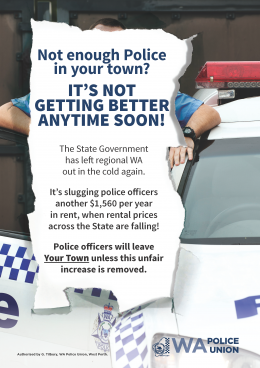 Police officers to leave regional areas in droves